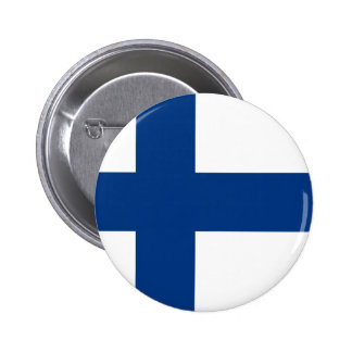 Flag of Republic of Finland Pinback Button