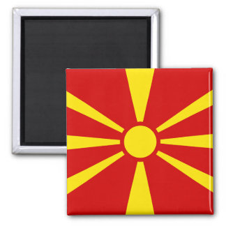 Flag of Republic of Macedonia Magnet