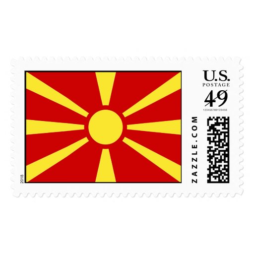 Flag of Republic of Macedonia Postage Stamp