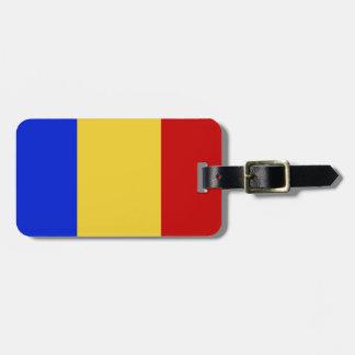 Flag of Romania Bag Tag