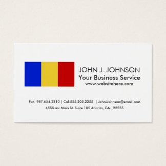 Flag of Romania Business Card