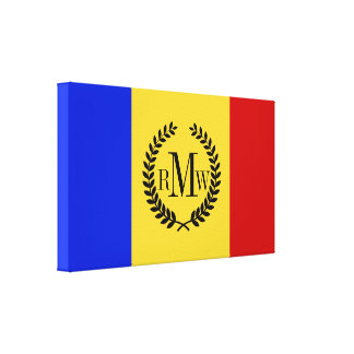 Flag of Romania Canvas Print