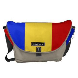 Flag of Romania Courier Bag