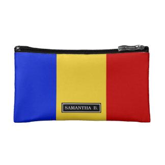 Flag of Romania Makeup Bag