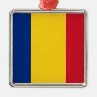 Flag of Romania Metal Ornament