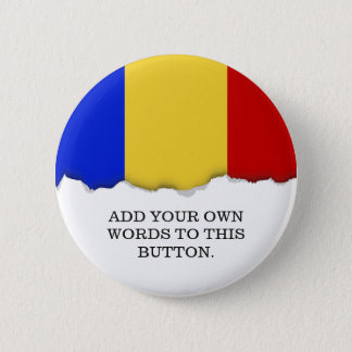 Flag of Romania Pinback Button
