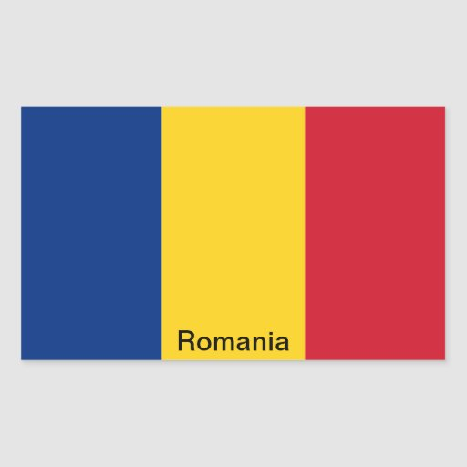 Flag of Romania Rectangle Stickers