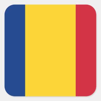 Flag of Romania Square Stickers
