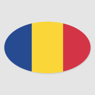 Flag of Romania Oval Stickers