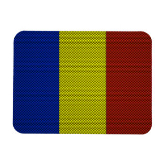 Flag of Romania with Carbon Fiber Effect Magnet