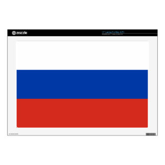 "Flag of Russia - Флаг России - Триколор Trikolor 17"" Laptop Decal"