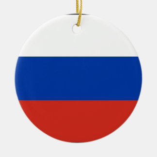 Flag of Russia - Флаг России - Триколор Trikolor Ceramic Ornament