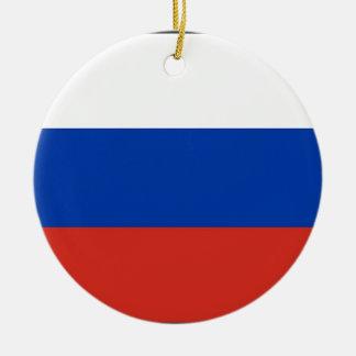 Flag of Russia - Флаг России - Триколор Trikolor Ceramic Ornament