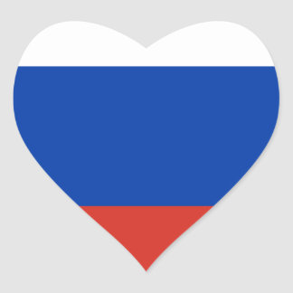 Flag of Russia - Флаг России - Триколор Trikolor Heart Sticker