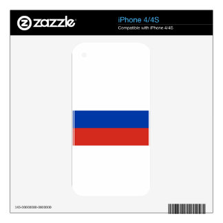 Flag of Russia - Флаг России - Триколор Trikolor iPhone 4S Skins