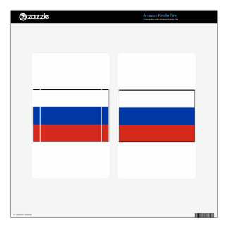 Flag of Russia - Флаг России - Триколор Trikolor Kindle Fire Decals
