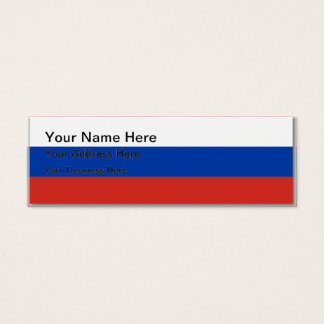Flag of Russia - Флаг России - Триколор Trikolor Mini Business Card