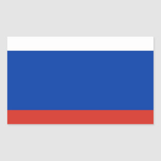 Flag of Russia - Флаг России - Триколор Trikolor Rectangular Sticker