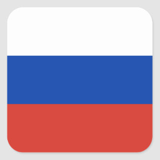 Flag of Russia - Флаг России - Триколор Trikolor Square Sticker