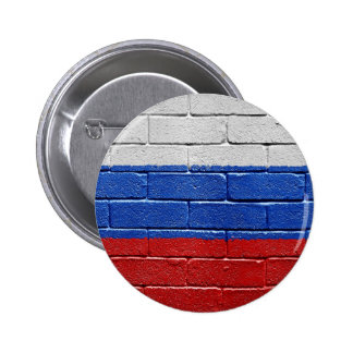 Flag of Russia 2 Inch Round Button
