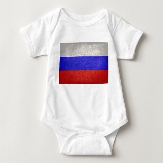 Flag of Russia Baby Bodysuit