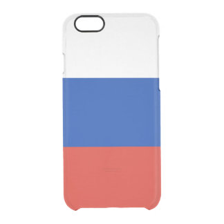Flag of Russia Clear iPhone Case