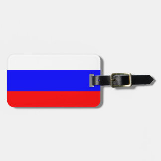 Flag of Russia Luggage Tag w/ leather strap
