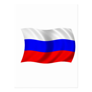 Flag of Russia Postcard