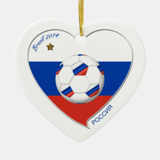 Flag of RUSSIA SOCCER of national team 2014 Ceramic Ornament