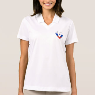 Flag of RUSSIA SOCCER of national team 2014 Polo T-shirt