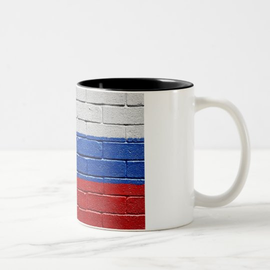 Flag of Russia Two-Tone Coffee Mug