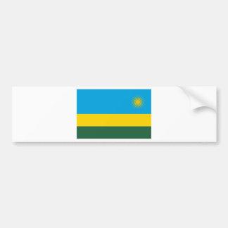 Flag Of Rwanda Car Bumper Sticker