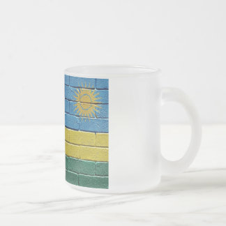 Flag of Rwanda Frosted Glass Coffee Mug