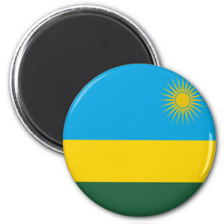 Flag of Rwanda 2 Inch Round Magnet