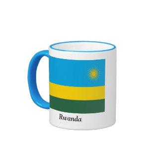 Flag of Rwanda Ringer Coffee Mug