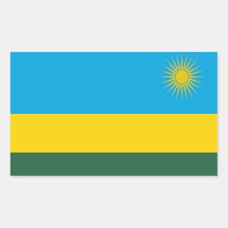 Flag of Rwanda Rectangular Sticker