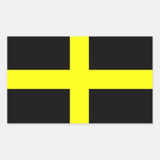 Flag of Saint David Rectangular Sticker