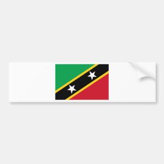 Flag of Saint Kitts and Nevis - Kittitian Nevisian Bumper Sticker
