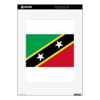 Flag of Saint Kitts and Nevis - Kittitian Nevisian iPad Skins