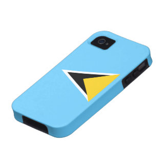 Flag of Saint Lucia iPhone 4 Case-Mate Vibe™ Case-Mate iPhone 4 Covers