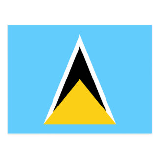 Flag of Saint Lucia Postcard