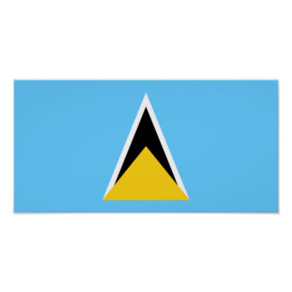 Flag of Saint Lucia Poster