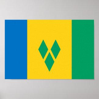 Flag of Saint Vincent Poster