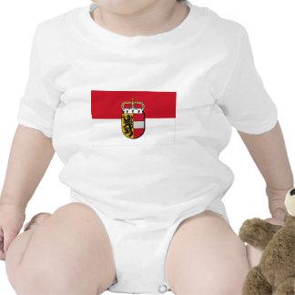 Flag of Salzburg, Austria Baby Bodysuit