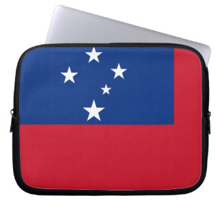 Flag of Samoa Island Laptop Sleeve