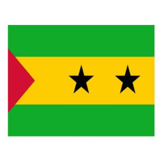 Flag of São Tomé and Príncipe Postcard