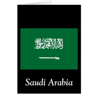 Flag of Saudi Arabia Card