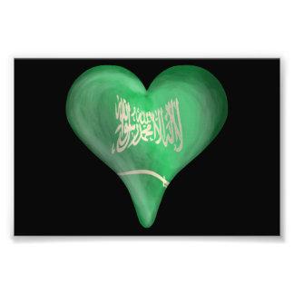 Flag Of Saudi Arabia In A Heart Art Photo