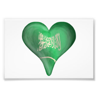 Flag Of Saudi Arabia In A Heart Photo Print