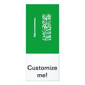 Flag of Saudi Arabia 4x9.25 Paper Invitation Card
